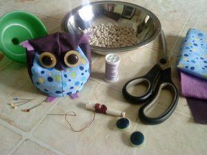 Kis bagoly babzsák - Little owl bean bag :)