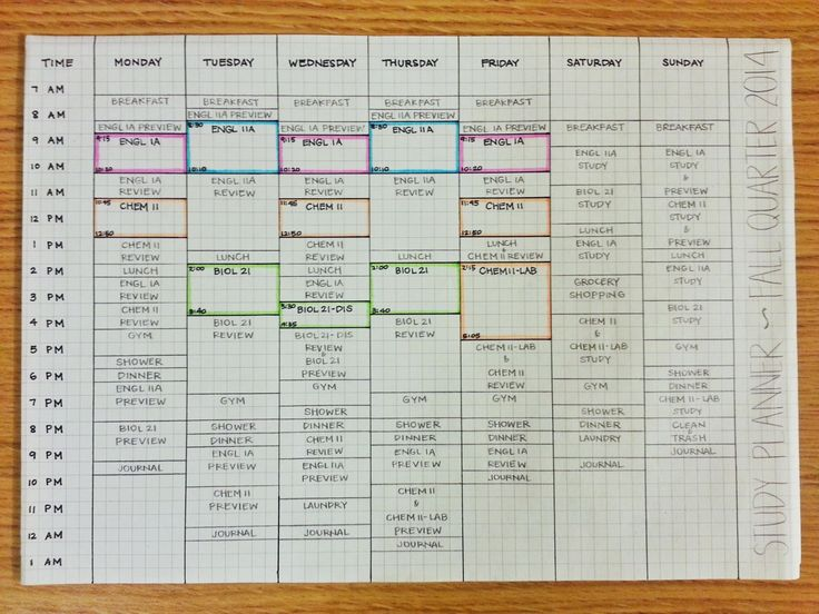 Best  Study Schedule Ideas On   Student Life