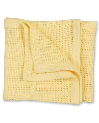 Cellular Blanket - Yellow