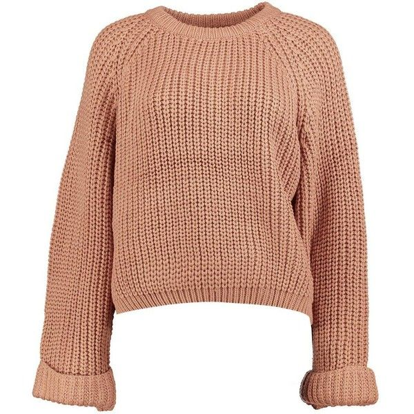 Boohoo Amina Crop Oversized Jumper ($15) ❤ liked on Polyvore featuring tops, sweaters, oversized turtleneck sweater, chunky knit sweater, cropped turtleneck sweater, oversized knit sweaters and cropped sweater