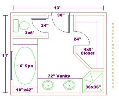 Free Bathroom Plan Design Ideas   Master Bathroom Design Size/Free Master  Bathroom Floor Plan With Spa And Spa Side Shelves