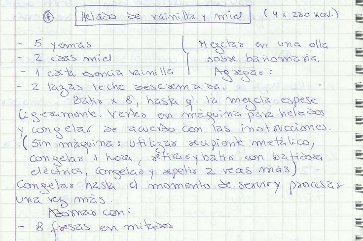 HELADO DE VAINILLA Y MIEL   #DULCE #POSTRES #HELADO #VAINILLA