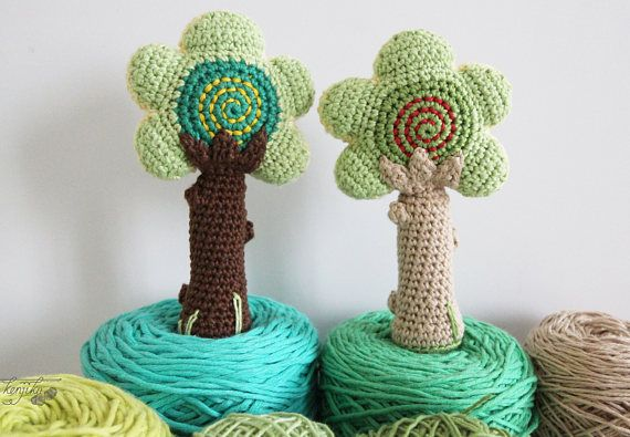 Tree Baby Rattle Amigurumi Pattern Tree Amigurumi Tree Baby