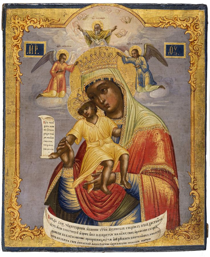 Mother of God, It is Truly Meet icon, Russian, 19th century, 31 x 25.7 cm