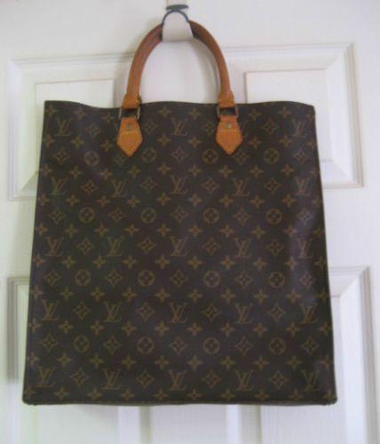 Authentic Vintage Louis Vuitton Monogram Sac Plat Tote Handbag with Dustbag