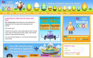 Australian ABC Reading Eggs website teaches abc phonics and reading skills.
