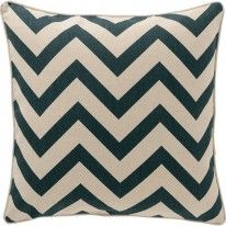 Cuscino Navy Zig Zag Cushion, Early Settler