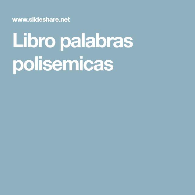 Libro palabras polisemicas