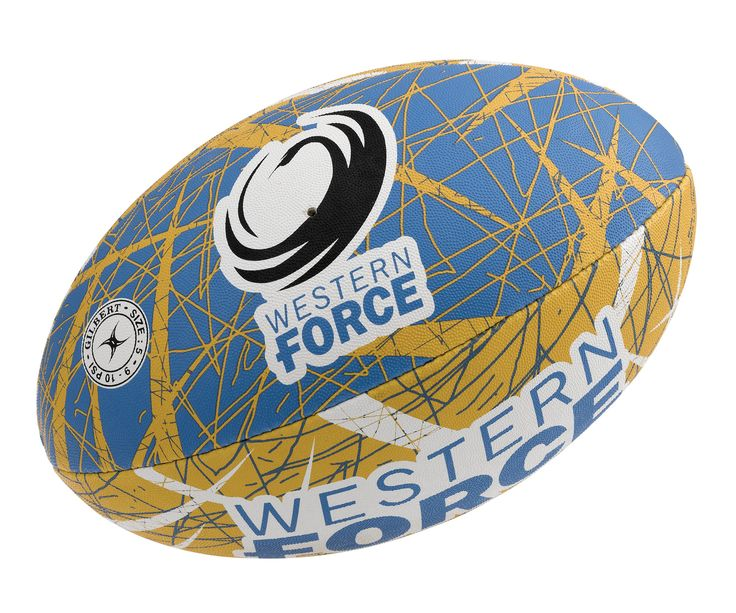 Western Force Gilbert Rugby Ball Supporter