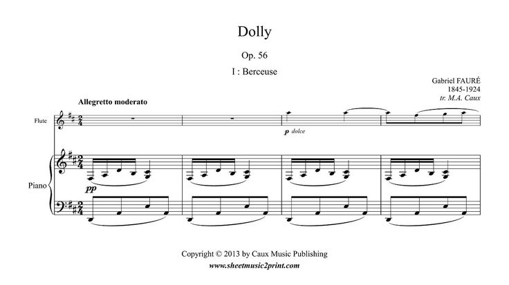 Fauré : Berceuse from Dolly, Op. 56 - Flute