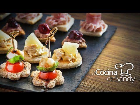 Canapés o tapas en recetas de comida faciles - YouTube