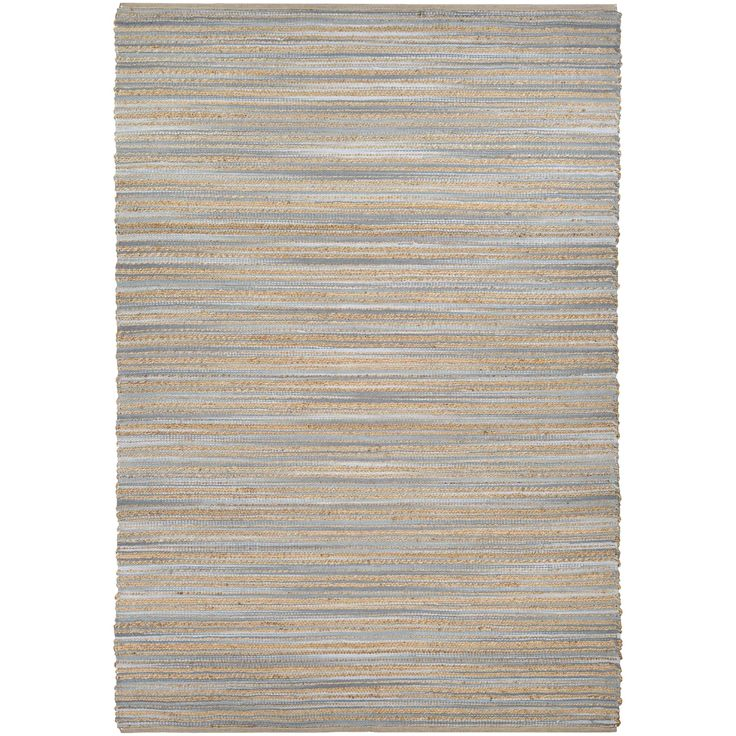 Couristan Nature's Elements Lodge Straw Grey Hand-loomed Rug (6' x 9') (Size 6' x 9'), Brown, Size 6' x 9' (Latex Free, Stripe)