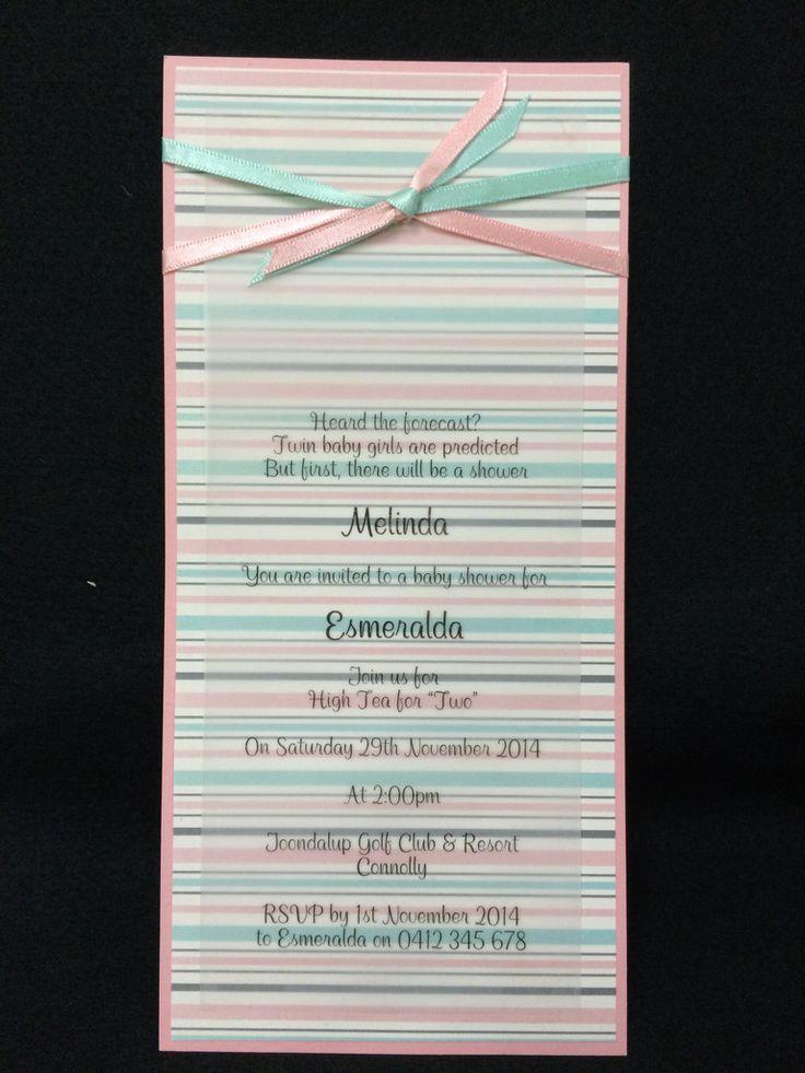 Invitation - Baby Shower - Pink