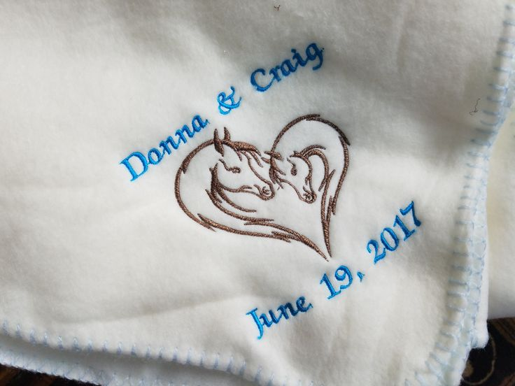 Couple Horse Heart Embroidery Designs