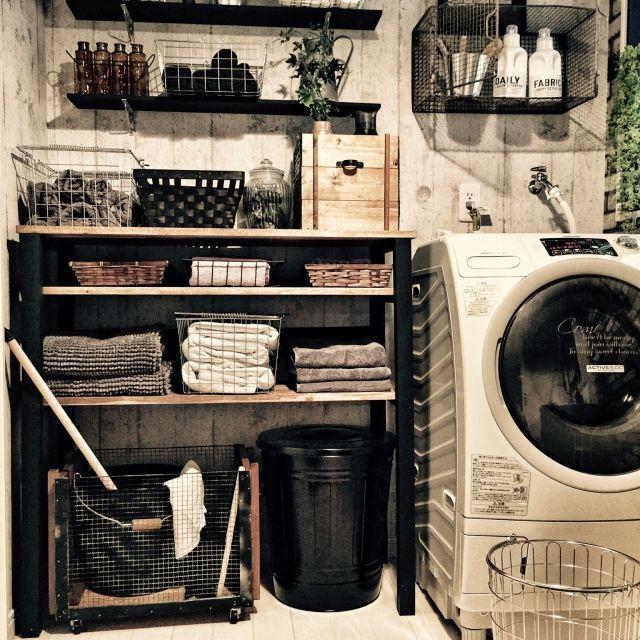 424 NYスタイル/男前/DIY/魅せる収納/バスケット/木箱…などのインテリア実例 - 2015-04-17 18:20:28 | RoomClip(ルームクリップ)