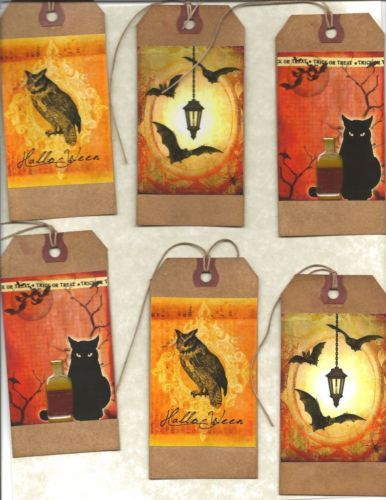 12-PRIMITIVE-TAGS-Only-for-Witches-HANG-TAGS-folk-Grungy-set-2