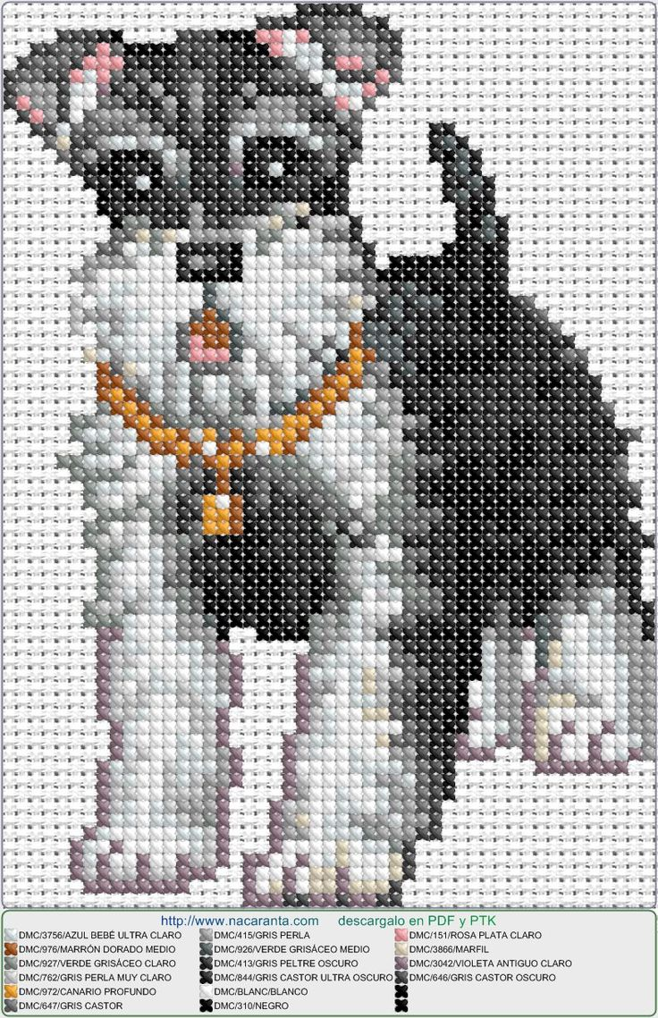 schnauzer EN PUNTO DE CRUZ, Cross stitch patterns