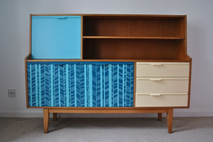 retro sideboard, painted, upcycled by happyretro.co.uk