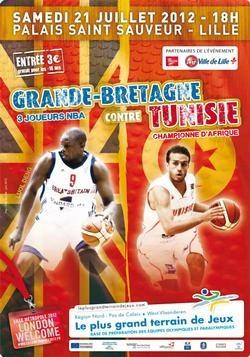 Samedi 21 juillet, la Grande Bretagne joue face à la Tunisie au Palais Saint Sauveur. Deux équipes prestigieuses à venir voir jouer, l'une comprend trois joueurs NBA et l'autre est championne d'Afrique, dans un match amical de préparation avant les Jeux Olympiques de Londres...