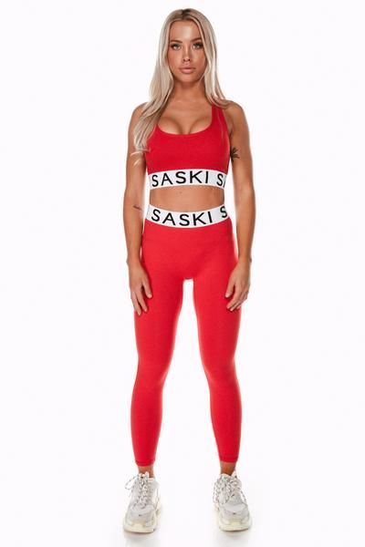 5390c002c1220 Staple Deep Red High Waist Leggings – Saski Collection Tammy Hembrow