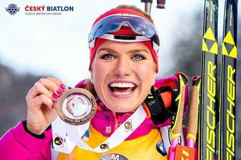 Amazing Rupholding :) Bronze medalist     #ceskybiatlon
