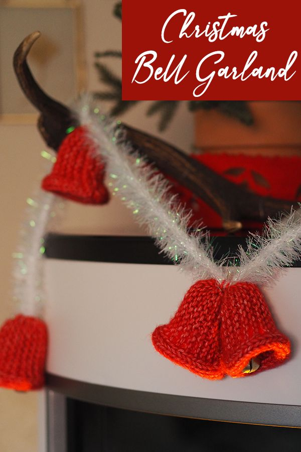 Christmas Bell Garland – Knitting Pattern   Christmas bells, Garland, Knitting patterns