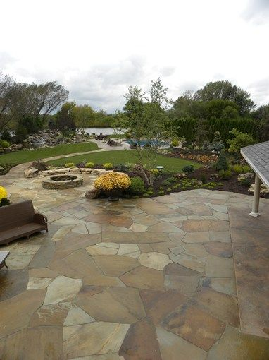 Stone Patio Design Ideas stone patio ideas backyard backyard stone patio designs 1000 images about paver patio designs on pinterest Irregular Flagstone Patio Crazy Paving Flagstone Smalls Landscaping Inc Valparaiso