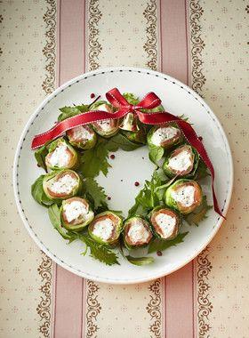 おいしい♪かわいい♪クリスマスのリース。「リード ヘルシークッキング ペーパー」で作ったカッテージチーズが味の決め手!