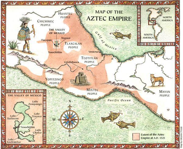 Map The Aztec Empire Mayan Empire Map Inspiring World Map