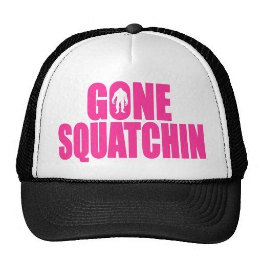 Original  Best-Selling Bobo's GONE SQUATCHIN Pink Trucker Hats