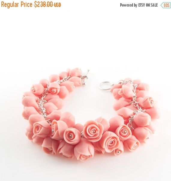 VENTE Rose fleur Bracelet Bracelet déclaration en par MaaPstudio