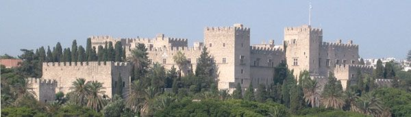 Castle of Knights' Templar in Rhodes City - Rhodes - Greece