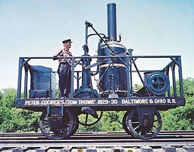 the Tom Thumb, first American-built locomotive