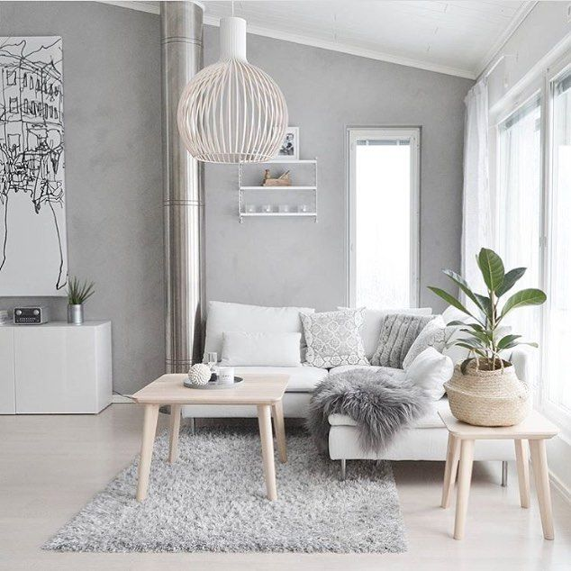 The gorgeous living room of @hannankotona Our String Pocket shelf in white will be back in stock soon ✨ . #livingroom #livingroomdecor #nordichome #nordicinspiration