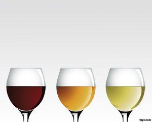 Estees un fondo de diapositivas PowerPoint con copas de vino hecha una plantilla de PPT como para las bodegaso empresas devino