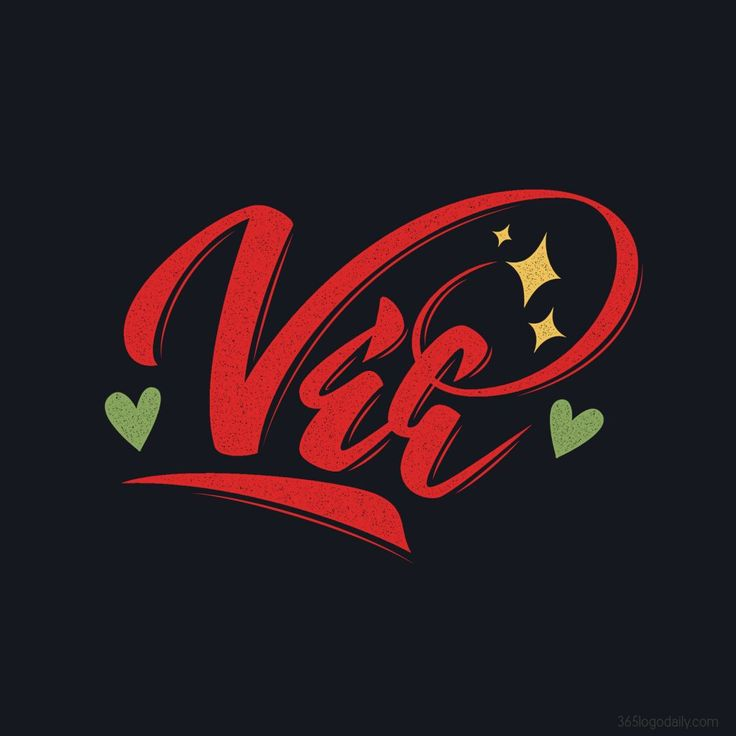 "Vee - a hand lettered personal name logotype for a snapchat friend of mine ""Vee"" (Vanessa)"
