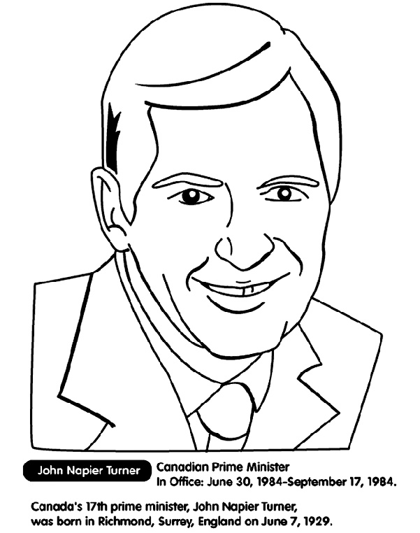 Canadian Prime Minister Turner Coloring Page Canada's Rhpinterestca: Crayola Create Coloring Pages From Photos At Baymontmadison.com