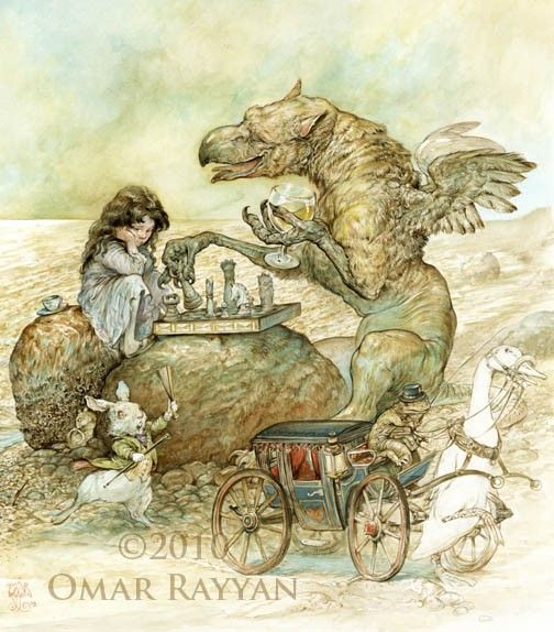 Interlude with the Gryphon print by studiorayyan on Etsy, $40.00