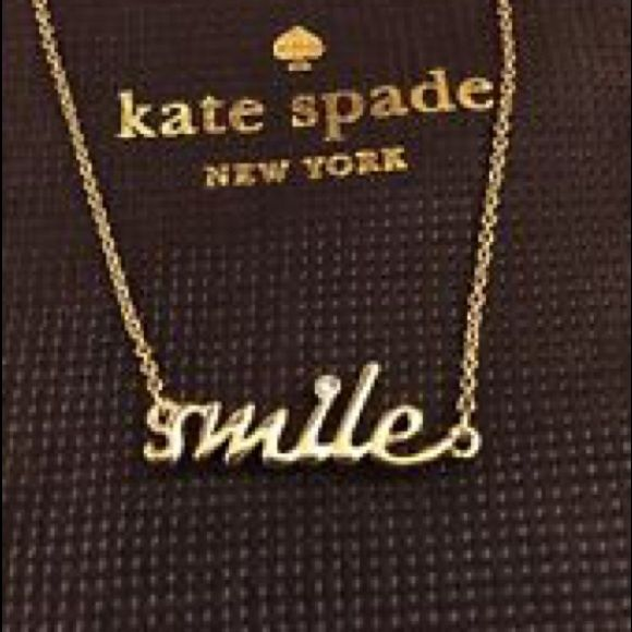 "NWT Kate Spade Smile Necklace Price firm No Offers. Adorable!!  New with tags and comes with Kate Spade dustbag and gift box. Sold out online and in stores!  Gold plated. Lobster claw closure. Measures 16"" long. No trades.  More pics coming soon! kate spade Jewelry Necklaces"