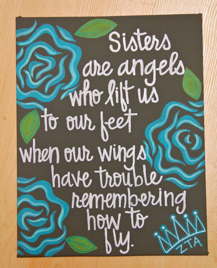 bracelet trends Sisters are angels    Canvas Painting 11  34 X14  34    30 00  via Etsy