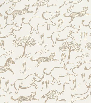 Safari (Taupe) Wallpaper