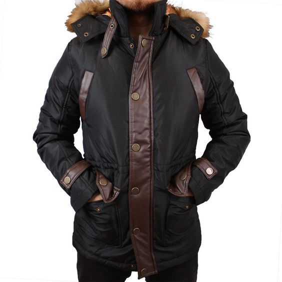 Billig herren winterjacke mit fell