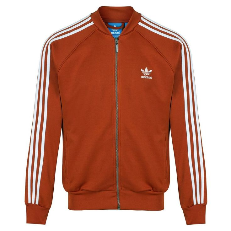 Adidas Originals Mens Superstar Track Jacket Tracksuit Top Zip Orange (#10479)