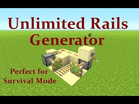 Minecraft Tutorial : Unlimited Rail Generator Works on Playstation, Xbox...