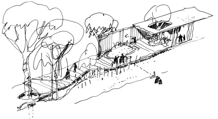 Initial boardwalk sketch