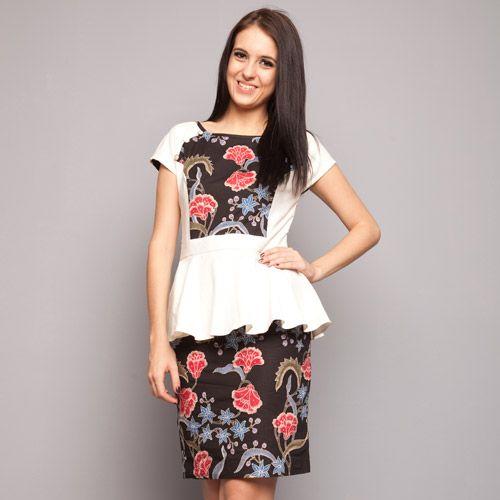 Black White Peplum Dress