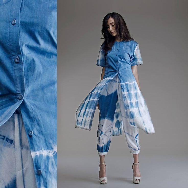 Shibori fabrics turned into clothing - Adia Lavani | Stockist: Alun Alun Grand Indonesia Alun Alun Galeries Lafayette People's Project Kuningan City
