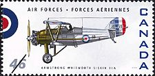 Canadian Postal Archives Database Postal Administration: Canada Title: Armstrong Whitworth Siskin IIIA Denomination: 46¢ Date of Issue: 4 September 1999