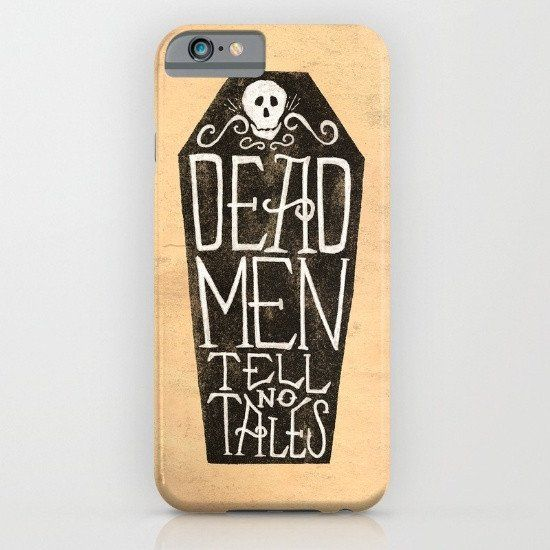 Caribbean Pirates Quote Dead Men Tell No Tales iphone case, smartphone