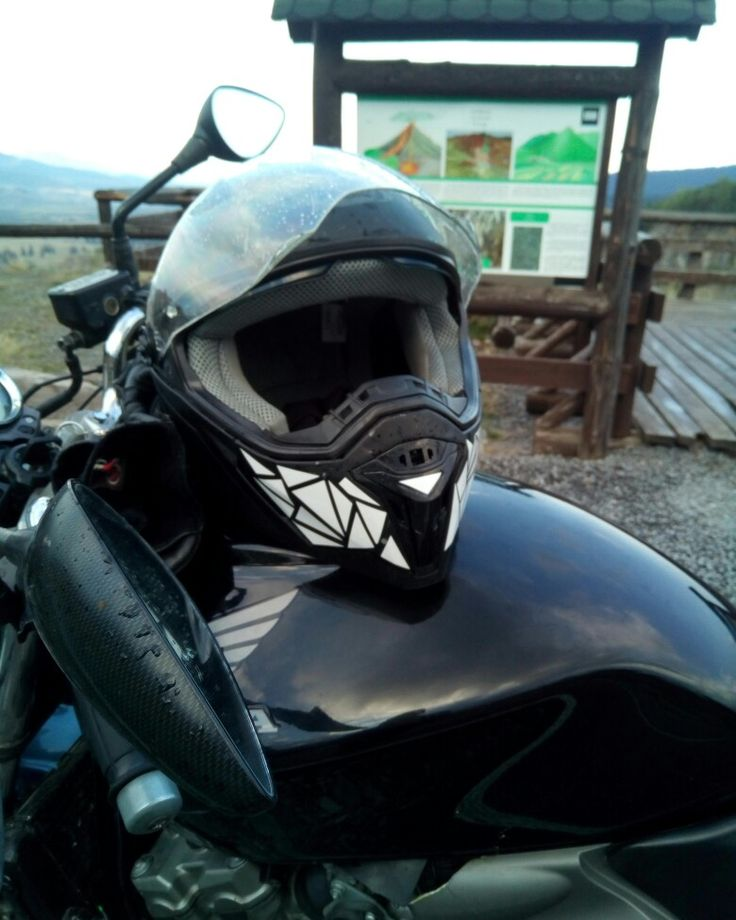 Honda Hornet, black, customized helmet by me, Transylvanian biker